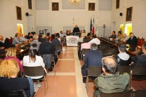 L'assemblea di lunedì che ha eletto il comitato di Urbino Città Ideale