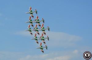 La precedente esibizione delle Frecce Tricolori a Pesaro (Foto Filippo Baioni)