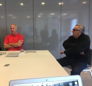 Mike e il dottor Tommaso Scatigna durante l'incontro di stamattina