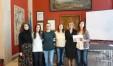 Nella foto Sara Mengucci assessore alla Solidarietà, Federica Maria Panicali presidente Fondazione Wanda Di Ferdinando, Laura Pierfelici, presidente Associazione Vicolo Corto e volontarie europee a Pesaro .