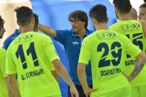 Coach Ramiro con squadra dell'Italservice