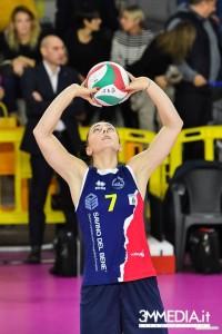 Isabella Di Iulio in maglia Savino Del Bene Scandicci, con il suo numero 7 (dalla pagina Facebook)