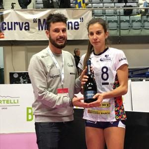 Giulia Saguatti, migliore in campo e autrice del punto decisivo