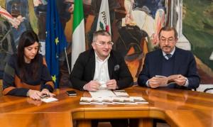Da sinistra Ilaria Renzoni, Damiano Bartocetti e Angelo Vichi