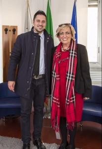 Il presidente Tagliolini con il Prefetto Cincarilli