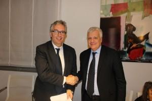 Il presidente della Regione Marche Luca Ceriscioli e il Ministro dell'Ambiente Gian Luca Galletti
