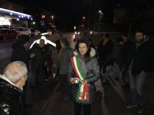 Inaugurazione marciapiede a Tavullia col sindaco Paolucci