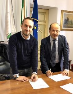 Il sindaco Zenobi e il direttore Confcommercio Amerigo Varotti