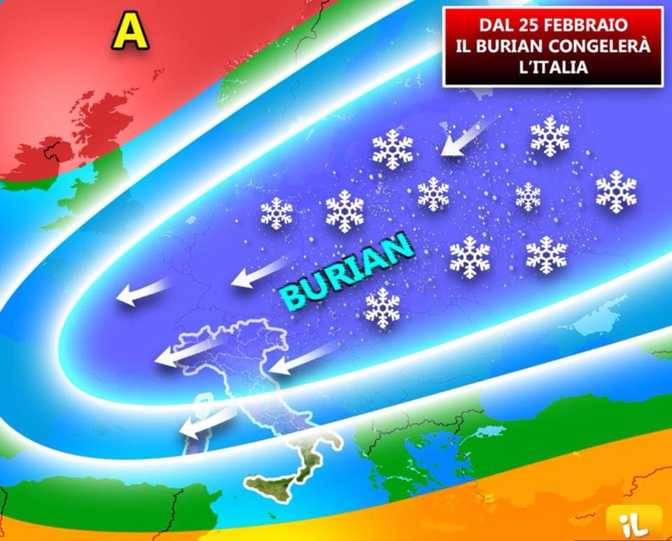 Neve in provincia Pesaro Urbino