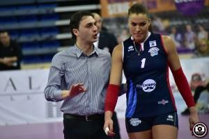 Bertini nella sua ultima partita con Scandicci (Foto Filippo Baioni)