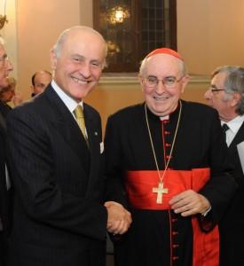 Il presidente del Conservatorio Rossini Girelli e il cardinale Vallini