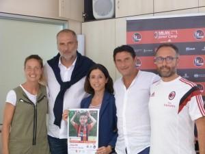 Da sinistra Raffaella Manieri, Sebastiano Rossi, Mila Della Dora, Massimo Agostini e Stefano Falghera