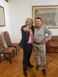 Massimo Ferrero e Marco Ferri l'altro giorno a Roma