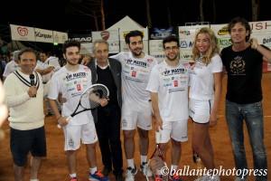 Mario Baldassarri, Chiambretti, Il Volo, Mario, Valeria Marini e Patrick Baldassarri