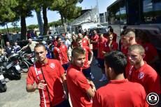 Vis Pesaro partenza per il ritiro di Cantiano 00025