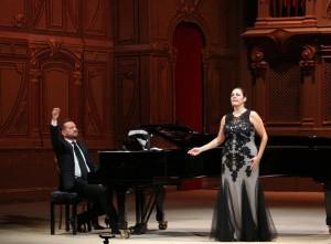 Yolanda Auyanet e Giulio Zappa in concerto nell'Auditorio Pedrotti (Foto Amati Bacciardi)