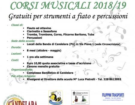 Manifesto scuola musica 2018-2019