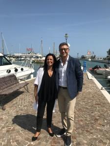 Il presidente di Aspes Luca Pieri e il sindaco di Riccione Renata Tosi