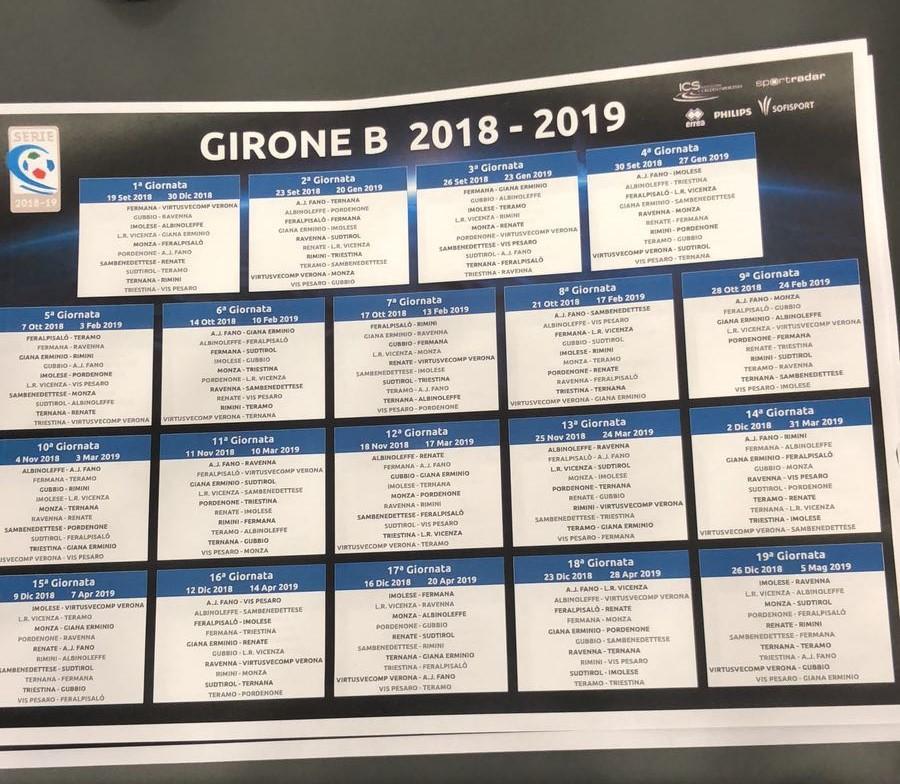 Calendario Serie C.Pu24 It Finalmente I Calendari Di Serie C La Vis Comincia