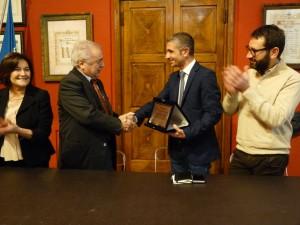 Giorgio Pierantoni premiato per i suoi 50 anni di attività