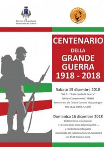 Locandina Centenario della Grande Guerra