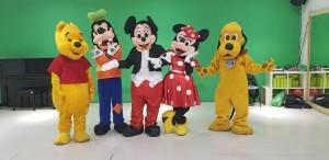 Mascotte Disney in prova