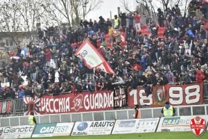 La curva della Vis Pesaro nell'ultimo match casalingo contro la Fermana