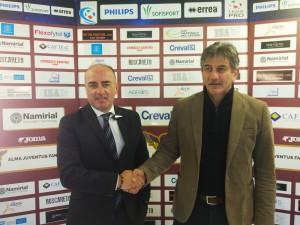 il direttore generale Simone Bernardini e mister Fabio Brini