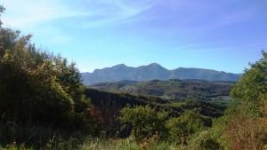 Dal Monte Paganuccio veduta sul Monte Catria