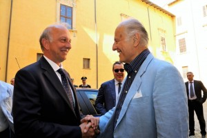 Il ministro Bussetti e l'ambasciatore Girelli