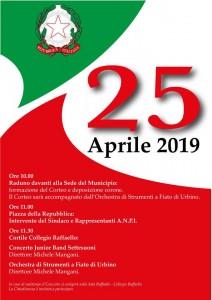 Programma celebrazioni 25 aprile_Locandina