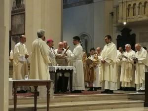 La foto dell'omelia del Vescovo Armando Trasarti in occasione della Santa Messa Crismale
