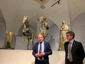 Amerigo Varotti e Francesco Baldelli al museo dei Bronzi dorati di Pergola