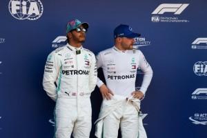 Hamilton e Bottas come in pista anche sul podio ...aspettano i rivali