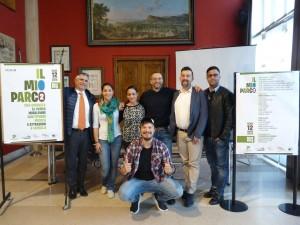 Nella foto da sinistra Andrea Sebastianelli, Sara Iannacci, Camilla Murgia, Matteo Ricci, Carmine Maffeo, Giacomo Arcangeli, Massimiliano Santini al centro