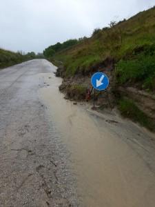 Allagamento sulla strada Sp 138 San Giovanni - Monte Altavelio