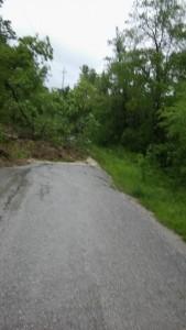 Strada provinciale 7 Pianmeletese chiusa per frana