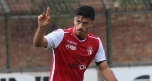 Alessandro Tascini esulta in maglia Bastia