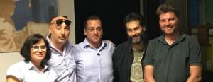 Da sinistra: Valeria Talevi, Claudio Zidolani, Luca Polenta, Roberto Rossini e Giorgio Remedia