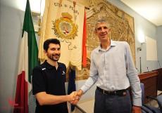 Coach Federico Perego col presidente Ario Costa
