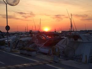 Tramonto al porto Vallugola