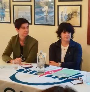 Da sinistra la vicepresidente OPI Dott.ssa Sonia Sperandio e la Presidente Dott.ssa Laura Biagiotti.
