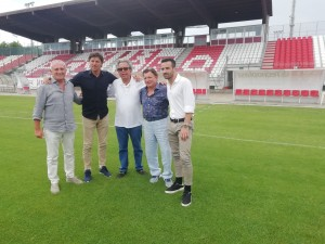 Da sinistra Guerrino Amadori, Simone Pavan, Claudio Crespini, Marco Ferri e Renato Vito