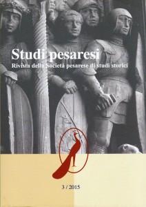 Studi Pesaresi - la copertina 2015