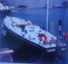 Una foto storica- il varo di Chica Boba II