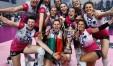 Il volley provinciale femminile potrà contare su Elisa Cella (nella foto con la bandiera tricolore) festeggia la promozione in A1 con Caserta)