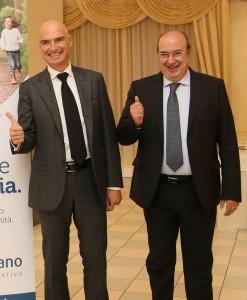 Il dg Moreschi con il Presidente Sandro Palombini