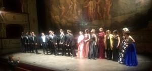Gli allievi dell'Accademia Rossiniana, nella foto durante il concerto finale, sono attesi daIl viaggio a Reims