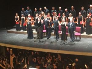 I protagonisti sul palcoscenico del Teatro Rossini