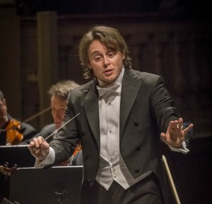 Michele Mariottidurante il concertoomaggio a Rossini (dalla pagina Facebook della Sagra Musicale Malatestiana)